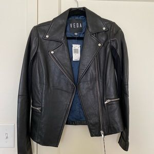 Veda Leather Jacket Small NWT
